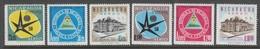 SERIE NEUVE DU NICARAGUA - EXPOSITION DE BRUXELLES N° Y&T PA 375 A 380 - 1958 – Bruxelles (Belgique)