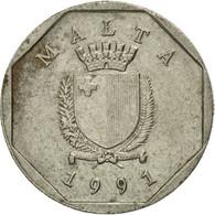 Monnaie, Malte, 5 Cents, 1991, British Royal Mint, TB, Copper-nickel, KM:95 - Malte
