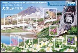 (ja1066) Japan 2018 Natural Monument Series No.3 Daisetusan MNH Fox Squirrel Rabbit Flying Squirrel Flower - 1989-... Imperatore Akihito (Periodo Heisei)