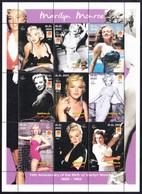 MARILYN MONROE - 75th Anniversary Of The Birth Of Marilyn Monroe 1926-1962, Somalia 2001 / Perforated - MNH - Cinema