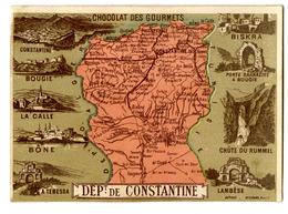 """{14240} Chromo / Image """" Café & Chocolat Des Gourmets """" Département De Constantine. """" En Baisse """" - Chromos"""