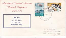 AUSTRALIAN NATIONAL ANTARCTIC RESEARCH EXPEDITION 1974-1975. DAVIS- BLEUP - Australisch Antarctisch Territorium (AAT)