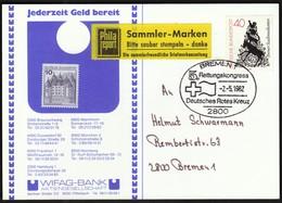 Germany Bremen 1982 / 5. Rettungskongress Deutsches Rotes Kreuz / Red Cross / Benz Sportwagen - Cruz Roja