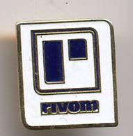 """{07266} Pin's """" Rivom """" (b).            """" En Baisse """" - Merken"""