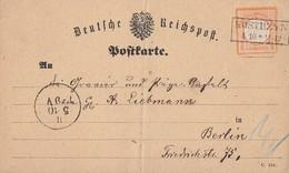 DR Karte EF Minr.18 R2 Kostrzyn 4.10. - Briefe U. Dokumente