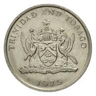 Monnaie, TRINIDAD & TOBAGO, 10 Cents, 1975, Franklin Mint, TTB, Copper-nickel - Trinité & Tobago