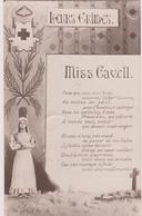 CARTE POSTALE - EDITH CAVELL  WW1 14-18  / AVEC TIMBRE TAXE - Beroemde Vrouwen
