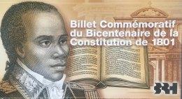 Haiti 20 Gourdes, P-271 (2001) - Commemorative Issue In Special Folder - UNC - Haïti