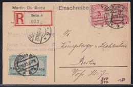 DR R-Orts-Karte Mif Minr.2x 314, 2x 317 Berlin 22.10.23 - Briefe U. Dokumente