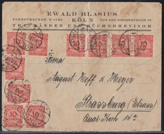 DR Brief Mef Minr.20x 318A Köln 2.11.23 Gel. Nach Strassburg - Deutschland