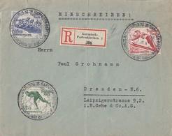 DR R-Brief Mif Minr.600-602 SST Garmisch-Partenkirchen - Briefe U. Dokumente