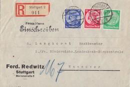 DR R-Brief Mif Minr.468,480,481 Stuttgart 23.8.33 - Deutschland