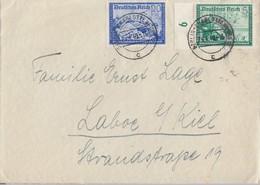 DR Brief Mif Minr.704 SR,711 Berlin 24.4.40 Gel. Nach Laboe - Deutschland