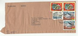 1978 Airmail Express GHANA COVER Stamps FISH BRIDGE CHAMELEON  To GB - Ghana (1957-...)