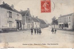 77 . Seine Et Marne .  Combs La Ville . Place De La Poste . Rue Sommeville . - Combs La Ville