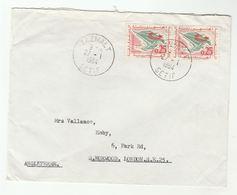1964 ALGERIA Stamps COVER Tazmalt Setif To GB Flag - Algeria (1962-...)
