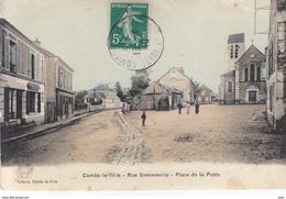 77 . Seine Et Marne .  Combs La Ville .rue Sommeville . Place De La Poste .. - Combs La Ville