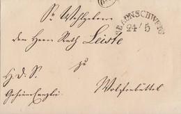 Braunschweig Brief Halbkreisst. Braunschweig 24.5. Gel. Nach Wolfenbüttel - Braunschweig