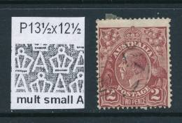 AUSTRALIA, 1926  2d Red-brown (P13½x12½) (wmk Multiple Small A) FU, Cat £10 (N) - Gebruikt