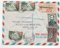 1957 Registered FORT ARCHAMBAULT Chad AEF COVER Stamps SOVEREIGN ORDER MALTA French Equatorial Africa Airmail To GB - A.E.F. (1936-1958)