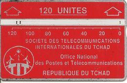 CARTE MAGNETIQUE-TCHAD-120U-ROUGE-V° N° En Bas A Droite Inversé-244C13401-UTILISE-BE - Tchad