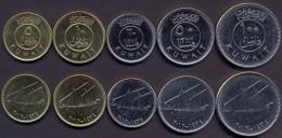 Kuwait - Fils Set  2012 - 1434 XF  (5, 10, 20, 50, 100 Fils) 5 Coins -- Ships - Kuwait