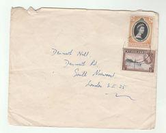 NYASALAND  COVER To GB  Royalty Coronation Lake Nyasa Stamps - Nyasaland (1907-1953)