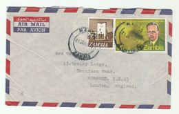 ZAMBIA COVER Stamps DAG HAMMARSKJOLD UN Airmail To GB United Nations - Zambia (1965-...)