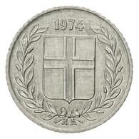 Monnaie, Iceland, 10 Aurar, 1974, TB+, Aluminium, KM:10a - Islande