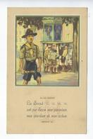 CPA La Loi Scoute Article 10 - Scouting