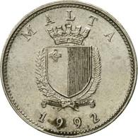 Monnaie, Malte, 10 Cents, 1992, British Royal Mint, TB+, Copper-nickel, KM:96 - Malta