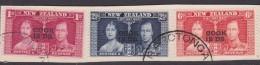 Cook Islands  SG 125-27 1937 Coronation Used Set - Cook Islands