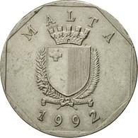 Monnaie, Malte, 50 Cents, 1992, British Royal Mint, TTB, Copper-nickel, KM:98 - Malta