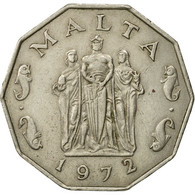 Monnaie, Malte, 50 Cents, 1972, British Royal Mint, TTB, Copper-nickel, KM:12 - Malta