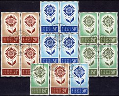 CEPT 1964 Zypern 240/1 Plus 4-Block O 70€ Nicosia Blumen Mit 22 Blättern Hojitas Blocs Ss Sheets M/s Sets Bf EUROPA - Used Stamps