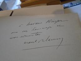 LE POIRIER DE MISERE 1927 MARCEL DELANNOY Envoi à La Soprano Jeanne Krieger  Opéra En 3 Actes - Musique