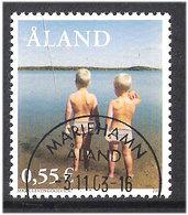 Aland 2003 My Åland: Mark With Brother Stephan On The Beach; Favorite Photo Of Mark Levengood (* 1  Mi 225, Cancelled(o) - Aland