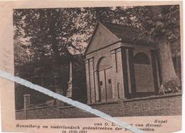 HERENT...1936... DE KAPEL VAN O.L. VROUW HERENT-ROESELBERG GEDENKTEKEN GESNEUVELDEN 1830-1831 - Old Paper