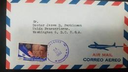 O) 1962 EL SALVADOR, PRESIDENT EISENHOWER AND LEMUS AND FLAGS - SCT A182 - VISIT, TO USA - El Salvador