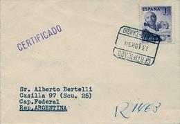 1950 , VIZCAYA  , MAT. BILBAO - CAMBIO / CERTIFICADO SOBRE ED. 1070 ,IV CENT. DE SAN JUAN DE DIOS - 1931-Aujourd'hui: II. République - ....Juan Carlos I