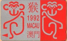 Macau - GPT, GTM 5MACA, Chinese Zodiac, Year Of The Monkey, Demo, Dummy, Without CN, 1992, Mint - Macau