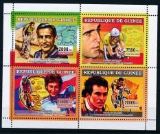 D- [401931] **/Mnh-Guinée 2006 - Vainqueurs Du Tour De France, Fausto Coffi, Miguel Indurain, Jeannie Longo, Bernard Hin - Cyclisme