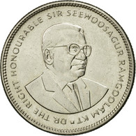 Monnaie, Mauritius, 20 Cents, 1987, TTB+, Nickel Plated Steel, KM:53 - Mauritius