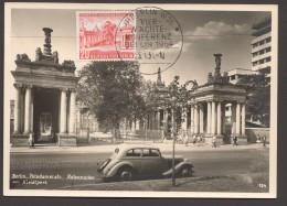 1954  Vier Mächte-Konferenz  MiNr 116  Potsdamerstr.  Kolonn Aden  Esrttag Sonderstempel - [5] Berlijn