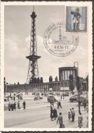 1954  Funkturm - Postwertzeichen Ausstellung   MiNr 120  Esrttag Sonderstempel - [5] Berlijn