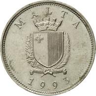 Monnaie, Malte, 25 Cents, 1993, Franklin Mint, TTB, Copper-nickel, KM:97 - Malta