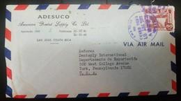O) 1970 COSTA RICA, DAM CACHI, PRESA - HYDROELECTRIC, ODONTIC ADESUCO, AIRMAIL TO USA - Costa Rica