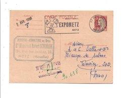 OBLITERATION MECANIQUE EXPOMETZ SUR ENTIER DECARIS DE METZ GARE DU 27/3/1968 - Marcophilie (Lettres)