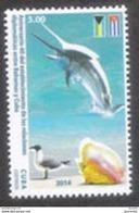 1301  Swordfish - Birds - Shells - 2014 - MNH - 2,50 - Fishes