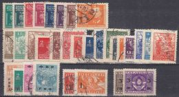 Yugoslavia Republic, Tito And Partisans Stamps Several Complete Sets 1945 Mi#461-468 Mi#470-485 1946 Mi#492-493 1950... - Gebruikt